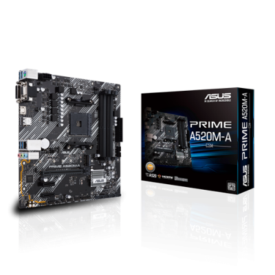 Asus (Prime A520M-A/CSM) AMD A520 MicroATX Motherboard