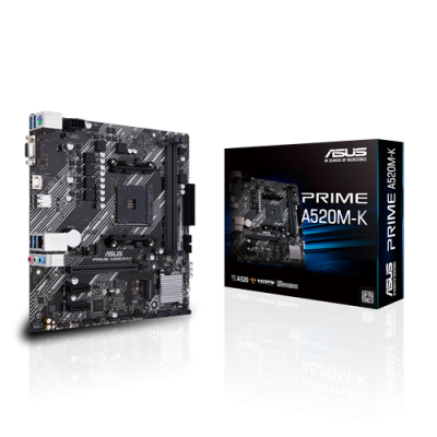 Asus (Prime A520M-K) AMD A520 MicroATX Motherboard