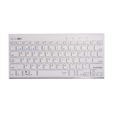 ALCATROZ (TRILIUM BTR 1 - White) Bluetooth Keyboard (Support with Android/Windows/IOS)