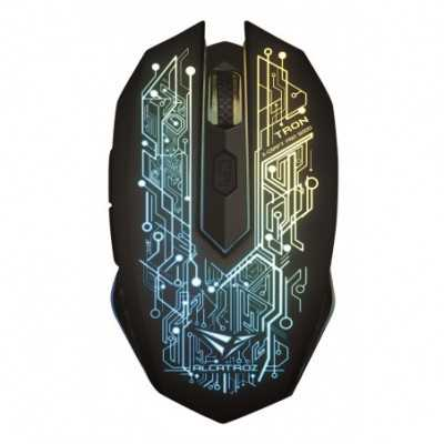 ALCATROZ ( X-Craft Air Tron 5000) 7 Color Graphic Lighting Wireless Gaming Optical Mouse (3200CPI)