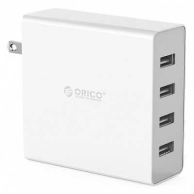 ORICO (DCW-4U-WH) White 4 Ports USB Wall Charger (5V6A Total 30W)
