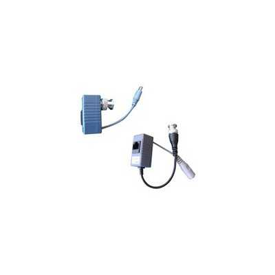 1 Channel passive video balun set - let cameras with BNC connection to wire by ethernet cable