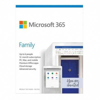 Microsoft (Office 365 Family) (6GQ-01143) English APAC DM 1 Year Subscription Medialess 6 User