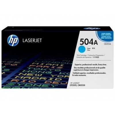 HP (CE251A) 504A Cyan Toner Cartridge - 7000 pages