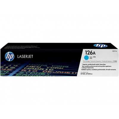 HP (CE311A) 126A Cyan Toner Cartridge - 1000 pages
