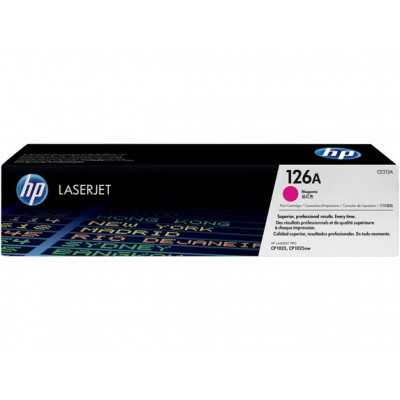HP (CE313A) 126A Magenta Toner Cartridge - 1000 pages