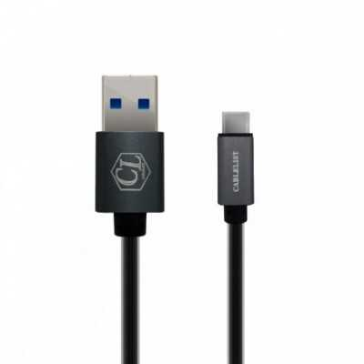 """Cablelist 2Meter """"USB3.0"""" (USB-A Male to USB-C """"Type-C"""" Male) Mobile Data/Charging Cable (CL-TCU3AM02)"""