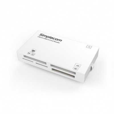 Simplecom (CR216) USB2.0 White Card Reader 6 Slot with CF