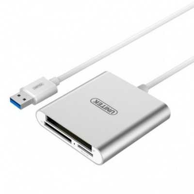 """UNITEK (Y-9313BSL) """"USB3.0"""" All-In-One Card Reader (Supports CF/ SD / Micro SD / SDHC / SDXC)"""