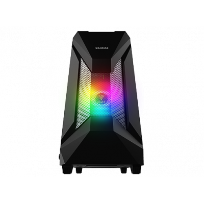 Gamdias (ATHENA E1) Tempered Glass with 1x 120mm ARGB/1x 120mm Black Fan Mid Tower Case without PSU