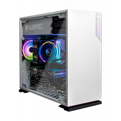 InWin 103 Code 3 (White) M.Spec RGB Mid RGB Tower Case with Tempered Glass Window (103RGB-WHITE-MSY)