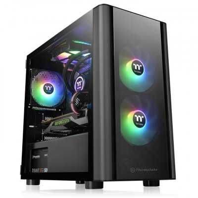 Thermaltake (V150) Front&Side Tempered Glass Micro-ATX Gaming Tower Case NO PSU (CA-1R1-00S1WN-00)