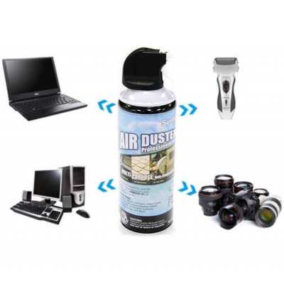 Air Duster Compressed Can Spray 400ml High Pressure Dust Removal