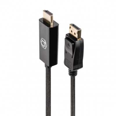 """Cablelist """"2K"""" 1Meter (DisplayPort Male to HDMI Male) Copper Cable (DCABCLDPHDMI2K1)"""