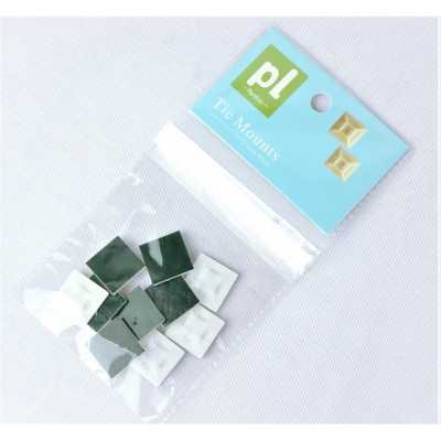 """Partlist 21mm """"White"""" 10pcs Two Way Adhesive Bases (CTPLAB21W10)"""