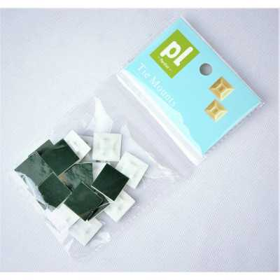 """Partlist 21mm """"White"""" 20pcs Two Way Adhesive Bases (CTPLAB21W20)"""