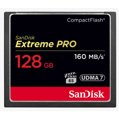 SanDisk Extreme Pro 128GB (SDCFXPS-128G-X46) VPG65 UDMA 7 160MB/s R 150MB/s W CF Card