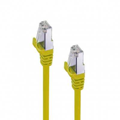 """Cablelist """"CAT8"""" Yellow 0.5Meter (50cm) SF/FTP RJ45 Ethernet Network Cable"""