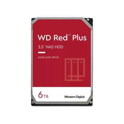 """WD 3.5"""" RED PLUS 6TB (WD60EFZX)  5400RPM NAS Hard Drive"""