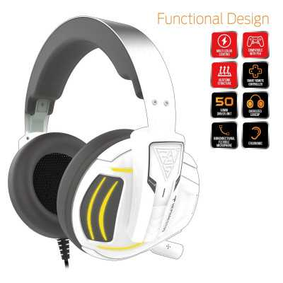 Gamdias (HEPHAESTUS E1 7) Color USB 3.5mm Gaming Headset with Microphone