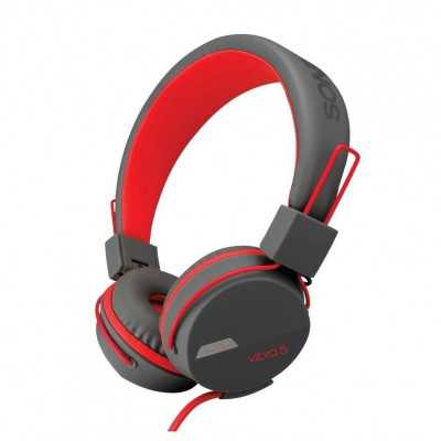 SONICGEAR Vibra 5 (Red) 3.5mm Headset with Microphone